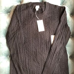 A New Day Black Cable Knit Crewneck Sweater NWT